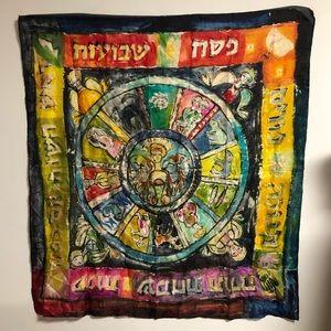 Astrology Zodiac Chart Silk Scarf